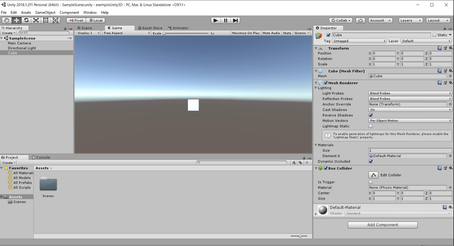 Unity Editor window