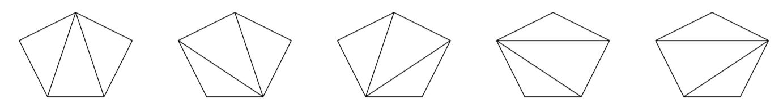 Triangulations of a pentagon