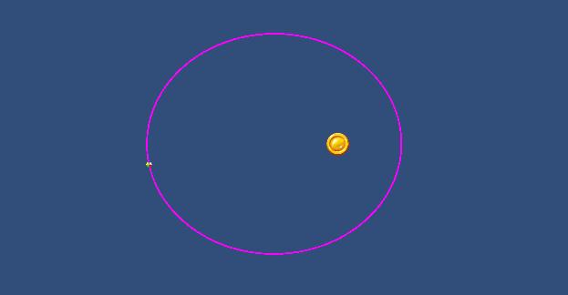 Orbital motion with AddForce