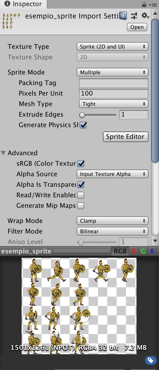 Sprite Editor in Unity